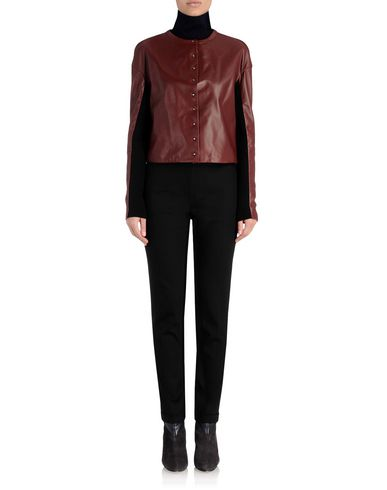 Leather Jacket With Contrast Sleeves