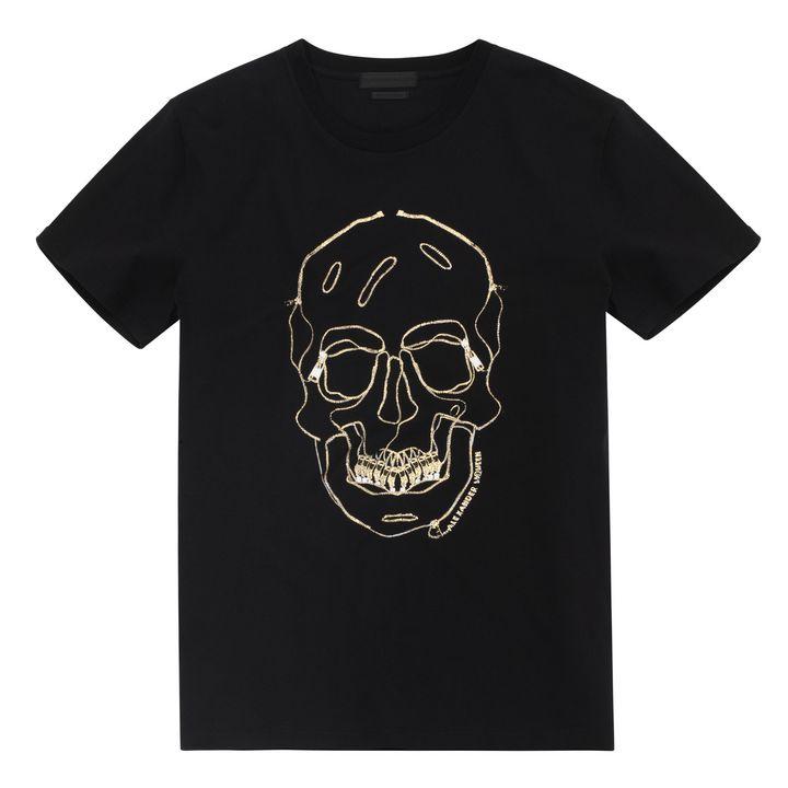 Alexander McQueen, Zip Skull Embroidered T-Shirt