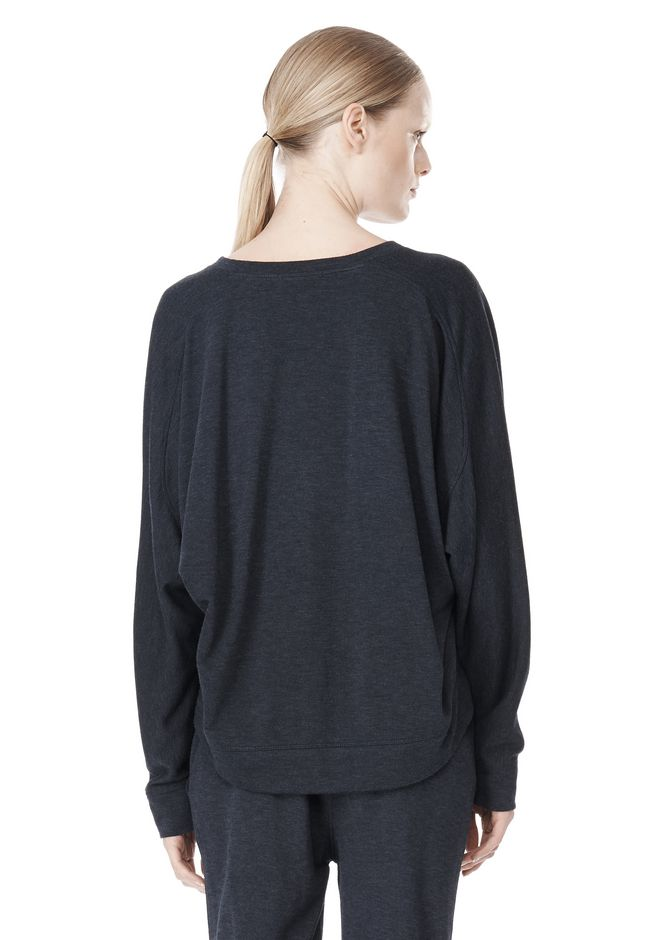 T by ALEXANDER WANG LIGHTWEIGHT FRENCH TERRY SWEATSHIRT TOP Adult 12_n_d
