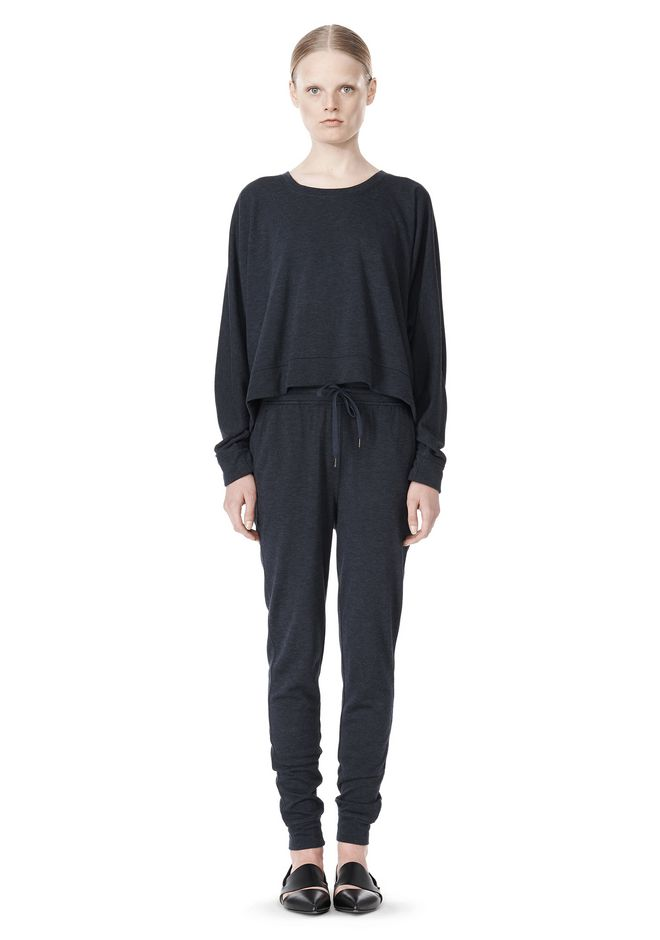 T by ALEXANDER WANG LIGHTWEIGHT FRENCH TERRY SWEATSHIRT