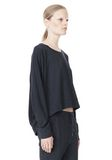T by ALEXANDER WANG LIGHTWEIGHT FRENCH TERRY SWEATSHIRT TOP Adult 8_n_a