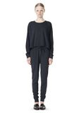 T by ALEXANDER WANG LIGHTWEIGHT FRENCH TERRY SWEATSHIRT TOP Adult 8_n_f