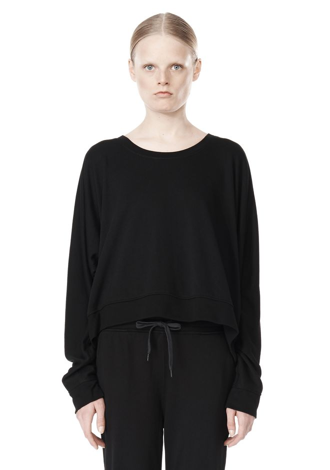 T by ALEXANDER WANG LIGHTWEIGHT FRENCH TERRY SWEATSHIRT TOP Adult 12_n_e
