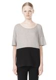 T by ALEXANDER WANG PIMA COTTON & DOUBLE KNIT COMBO TEE TOP Adult 8_n_e