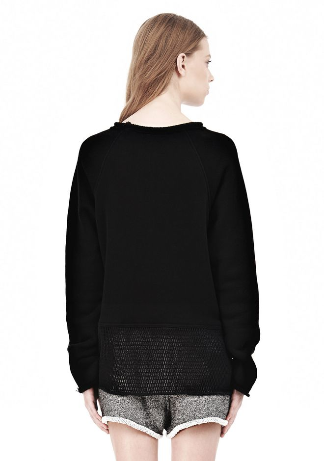 T by ALEXANDER WANG  FRENCH TERRY SWEATSHIRT WITH MESH TOP Adult 12_n_d
