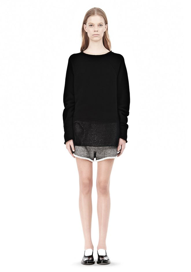 FRENCH TERRY SWEATSHIRT WITH MESH