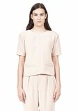 T by ALEXANDER WANG DRAPE SUITING V BACK SHORT SLEEVE TOP TOP Adult 8_n_e