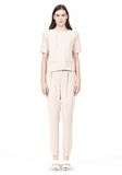 T by ALEXANDER WANG DRAPE SUITING V BACK SHORT SLEEVE TOP TOP Adult 8_n_f
