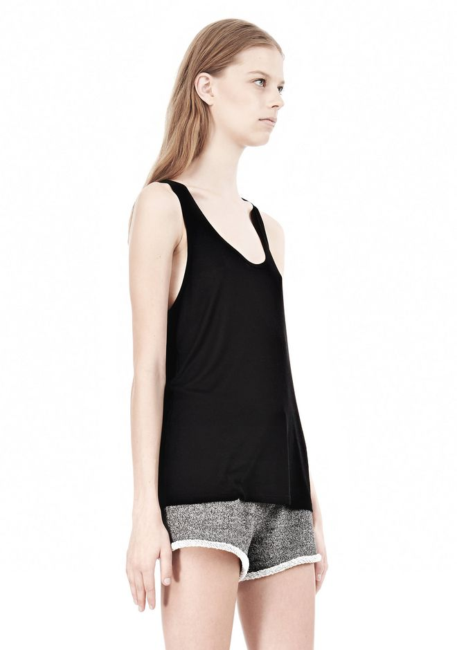 T by ALEXANDER WANG SOFT MELANGE JERSEY TANK TOP Adult 12_n_a