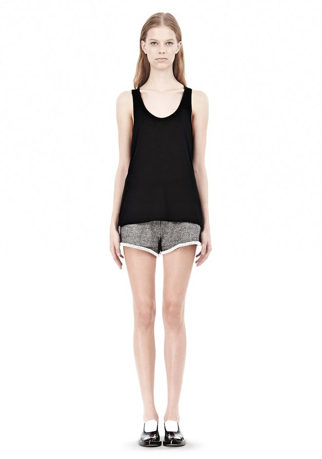 T by ALEXANDER WANG SOFT MELANGE JERSEY TANK TOP Adult 12_n_f