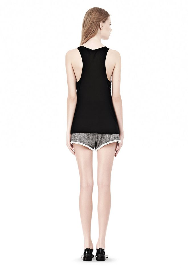T by ALEXANDER WANG SOFT MELANGE JERSEY TANK TOP Adult 12_n_r