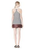 T by ALEXANDER WANG STRIPE LINEN COTTON TANK TOP Adult 8_n_r