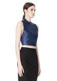 ALEXANDER WANG CROPPED HALTERNECK LEATHER TOP  TOP Adult 8_n_a