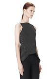 ALEXANDER WANG MIXED PINSTRIPE PEPLUM TOP TOP Adult 8_n_a