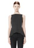 ALEXANDER WANG MIXED PINSTRIPE PEPLUM TOP TOP Adult 8_n_e