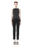 ALEXANDER WANG MIXED PINSTRIPE PEPLUM TOP TOP Adult 8_n_f