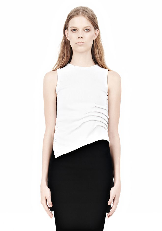 ALEXANDER WANG TRANSFER TUCK CREWNECK TANK TOP Adult 12_n_e