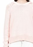 T by ALEXANDER WANG SPECKLED KNITTED HOODIE TOP Adult 8_n_a