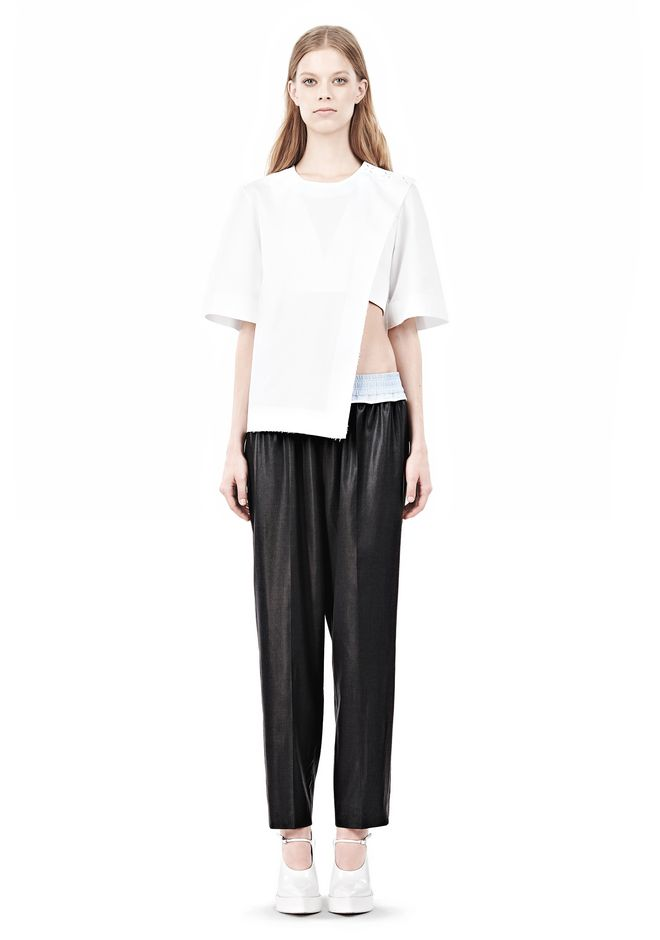 ALEXANDER WANG ASYMMETRIC T-SHIRT WITH HIDDEN BRA TOP Adult 12_n_f