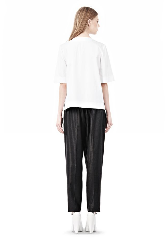 ALEXANDER WANG ASYMMETRIC T-SHIRT WITH HIDDEN BRA TOP Adult 12_n_r