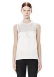 ALEXANDER WANG CREWNECK TOP WITH DISTRESSED BACK DETAIL TOP Adult 8_n_e
