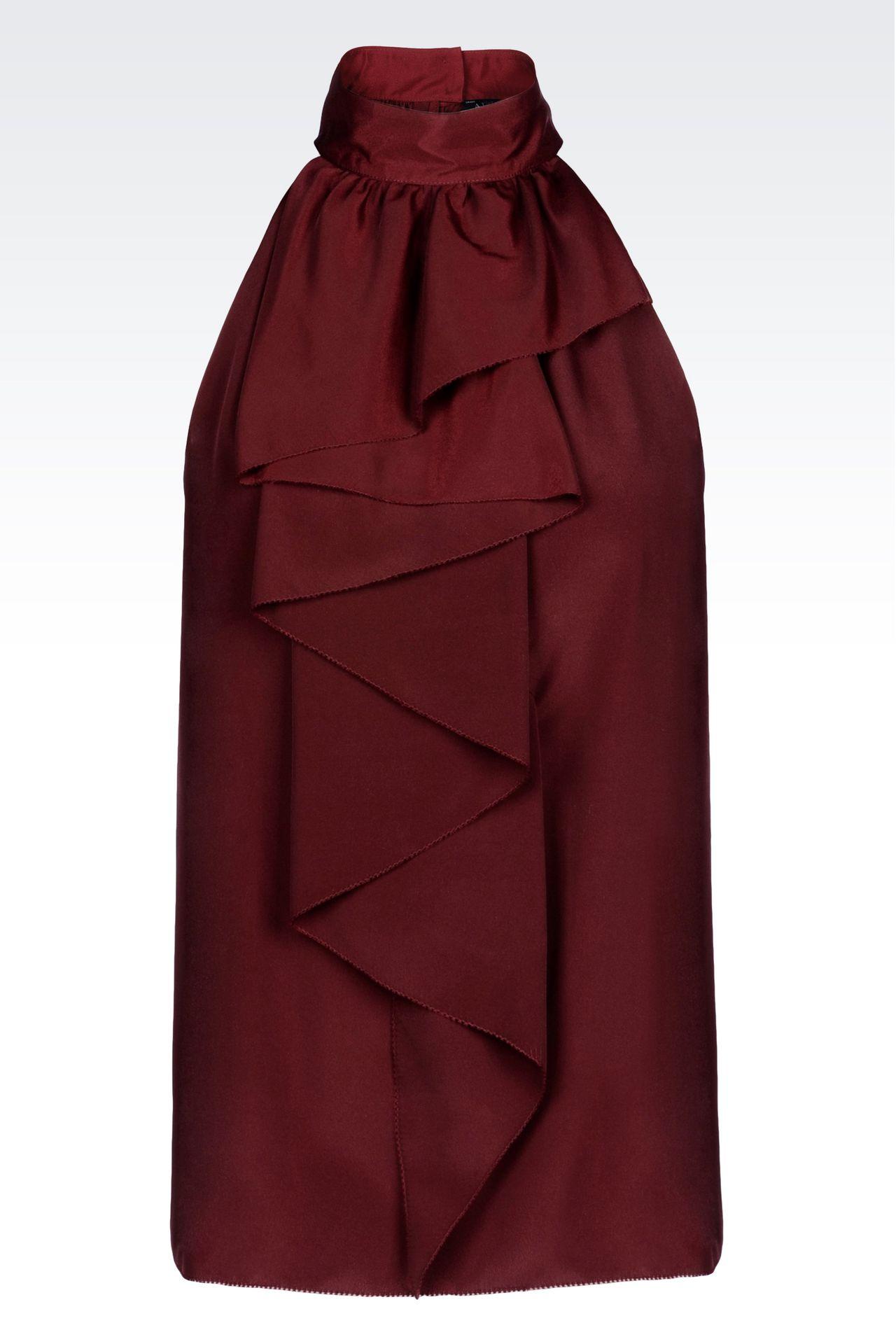 TOP IN CRÊPE: Blouses Women by Armani - 0