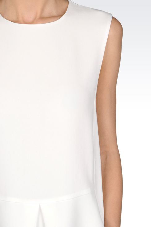 PEPLUM TOP IN CADY: Sleeveless tops Women by Armani - 5
