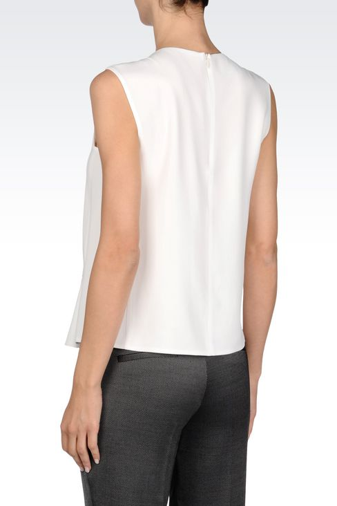 PEPLUM TOP IN CADY: Sleeveless tops Women by Armani - 4