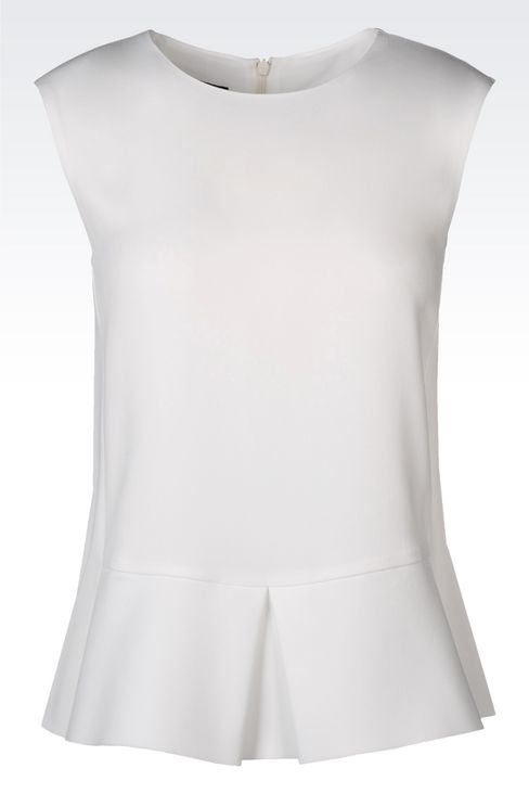 PEPLUM TOP IN CADY: Sleeveless tops Women by Armani - 1