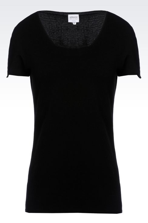 T-SHIRT IN VISCOSE BLEND: Print t-shirts Women by Armani - 1