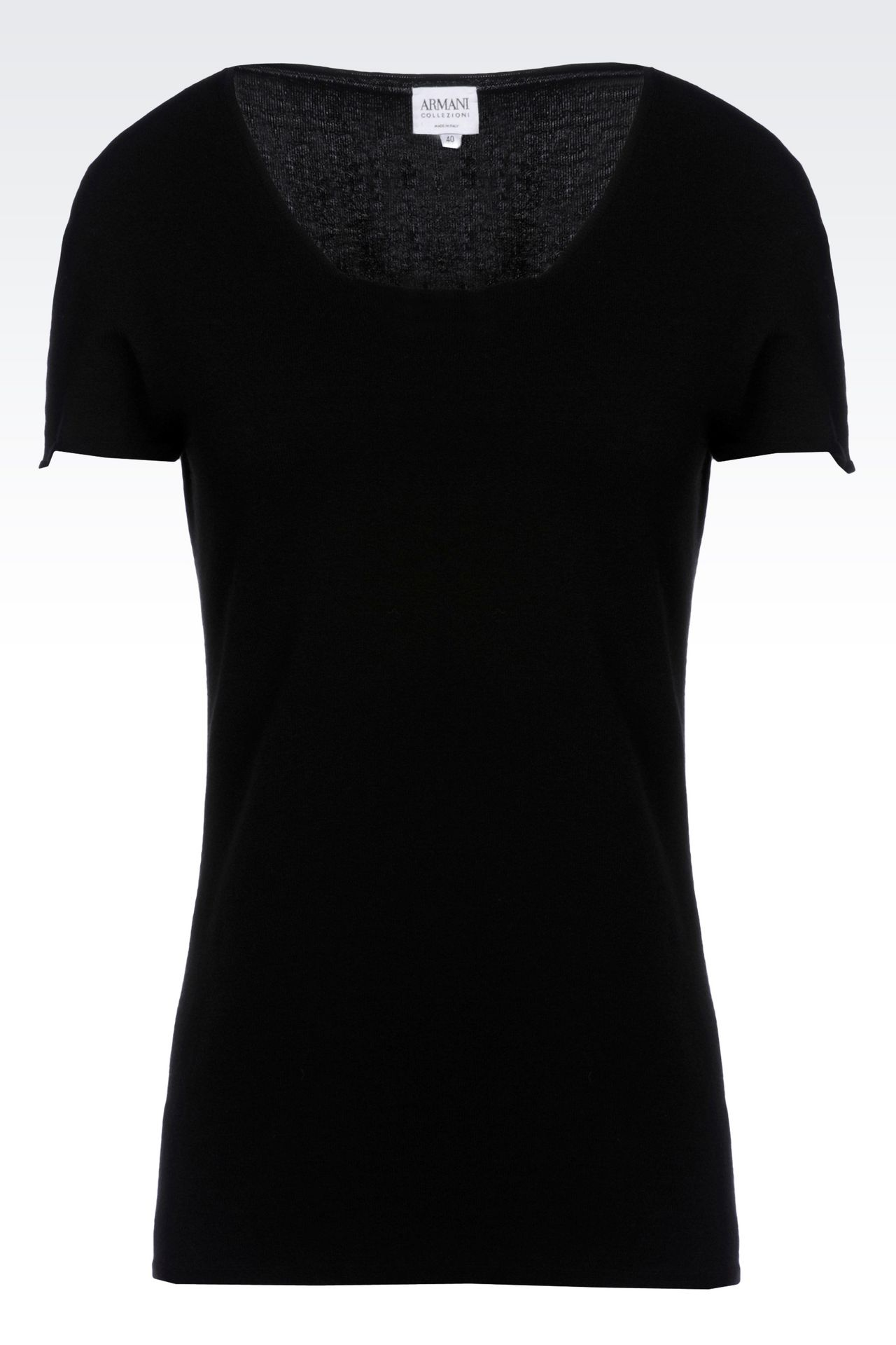 T-SHIRT IN VISCOSE BLEND: Print t-shirts Women by Armani - 0