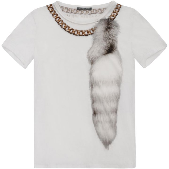 Alexander McQueen, Fur and Chain Print T-shirt