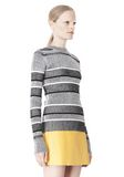T by ALEXANDER WANG RIB KNIT LONG SLEEVE MOCK NECK TOP TOP Adult 8_n_a