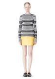 T by ALEXANDER WANG RIB KNIT LONG SLEEVE MOCK NECK TOP TOP Adult 8_n_f