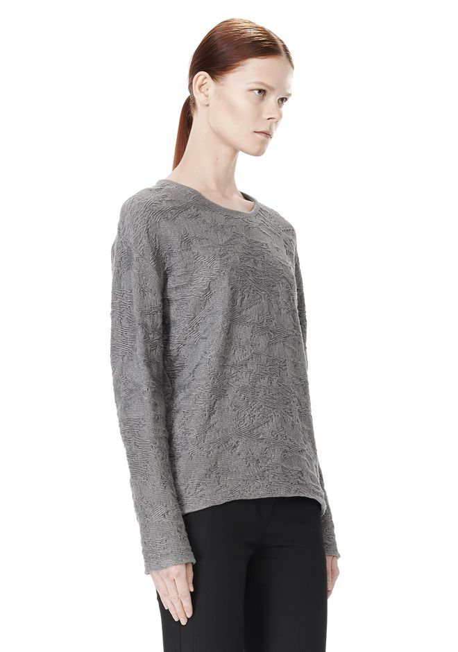 ALEXANDER WANG DISTRESSED PULLOVER TOP Adult 12_n_a
