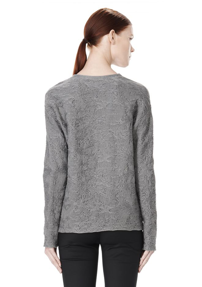 ALEXANDER WANG DISTRESSED PULLOVER TOP Adult 12_n_d