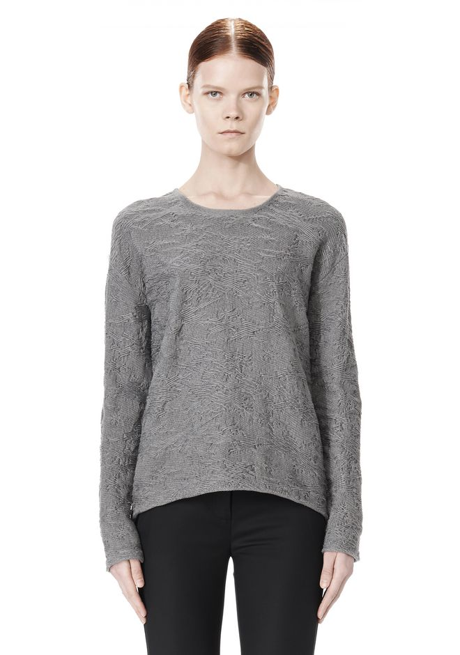 ALEXANDER WANG DISTRESSED PULLOVER TOP Adult 12_n_e