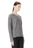 ALEXANDER WANG DISTRESSED PULLOVER TOP Adult 8_n_a