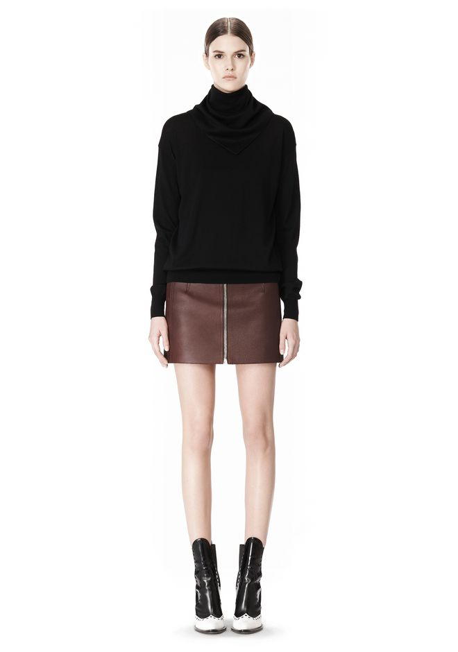 ALEXANDER WANG PULLOVER WITH ZIP BANDANA TOP Adult 12_n_f