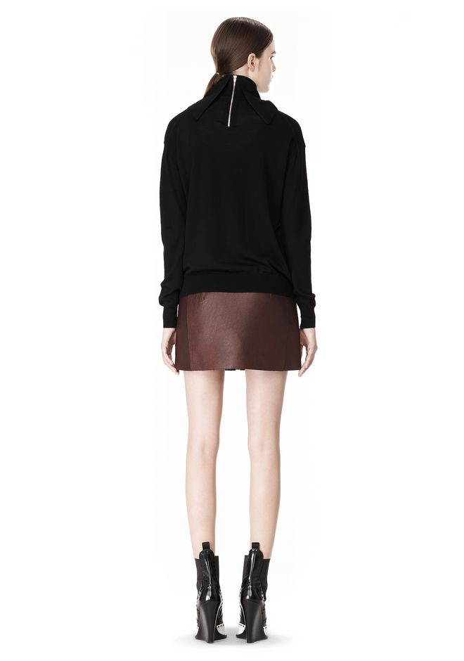 ALEXANDER WANG PULLOVER WITH ZIP BANDANA TOP Adult 12_n_r