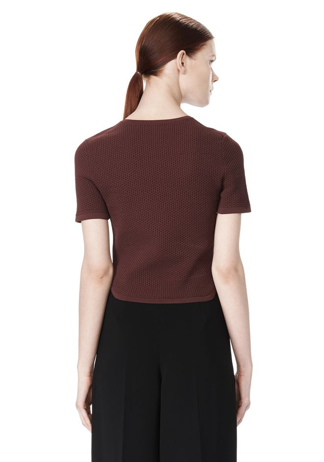 ALEXANDER WANG SHRUNKEN MESH TEE  TOP Adult 12_n_d