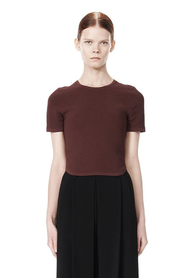 ALEXANDER WANG SHRUNKEN MESH TEE  TOP Adult 12_n_e