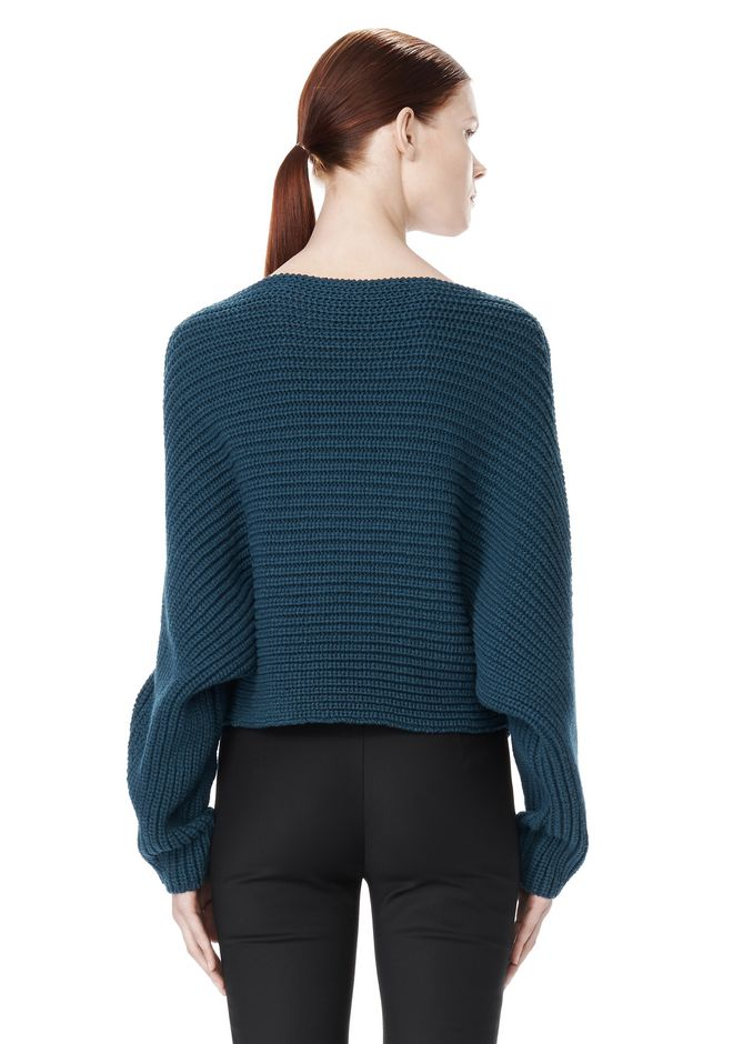 ALEXANDER WANG CROPPED RIB PULLOVER  TOP Adult 12_n_d