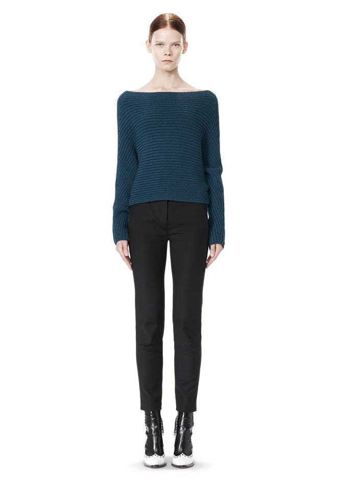 ALEXANDER WANG CROPPED RIB PULLOVER  TOP Adult 12_n_f