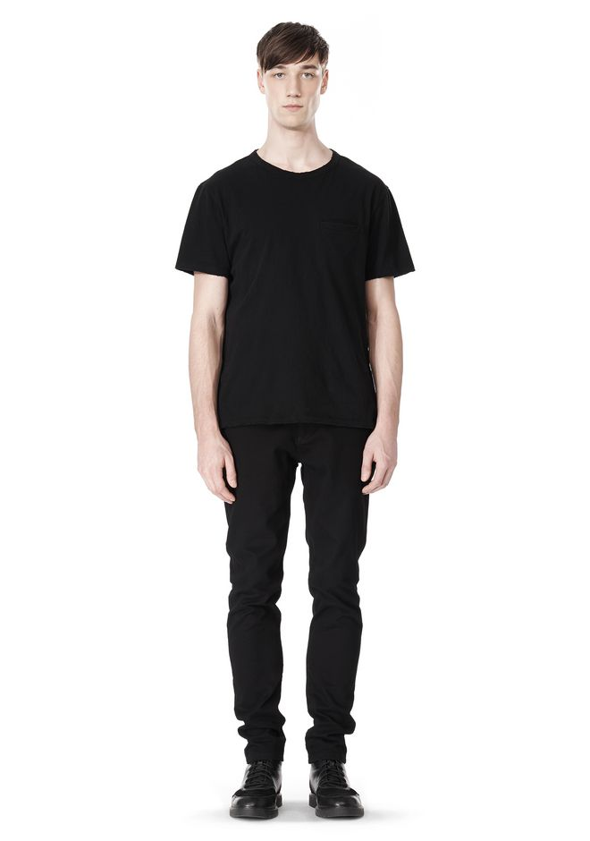 T by ALEXANDER WANG DISTRESSED SLUB COTTON JERSEY CREWNECK TEE T-Shirt Adult 12_n_f
