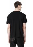 T by ALEXANDER WANG DISTRESSED SLUB COTTON JERSEY CREWNECK TEE T-Shirt Adult 8_n_d