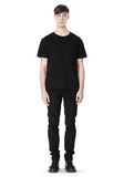 T by ALEXANDER WANG DISTRESSED SLUB COTTON JERSEY CREWNECK TEE T-Shirt Adult 8_n_f