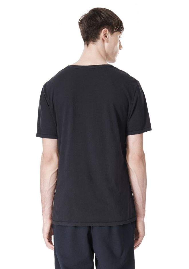 T by ALEXANDER WANG LOW NECK SHORT SLEEVE TEE T-Shirt Adult 12_n_d