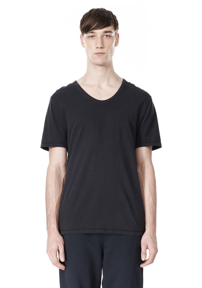 T by ALEXANDER WANG LOW NECK SHORT SLEEVE TEE T-Shirt Adult 12_n_e