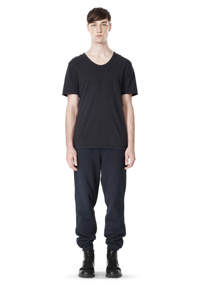T by ALEXANDER WANG LOW NECK SHORT SLEEVE TEE T-Shirt Adult 12_n_f